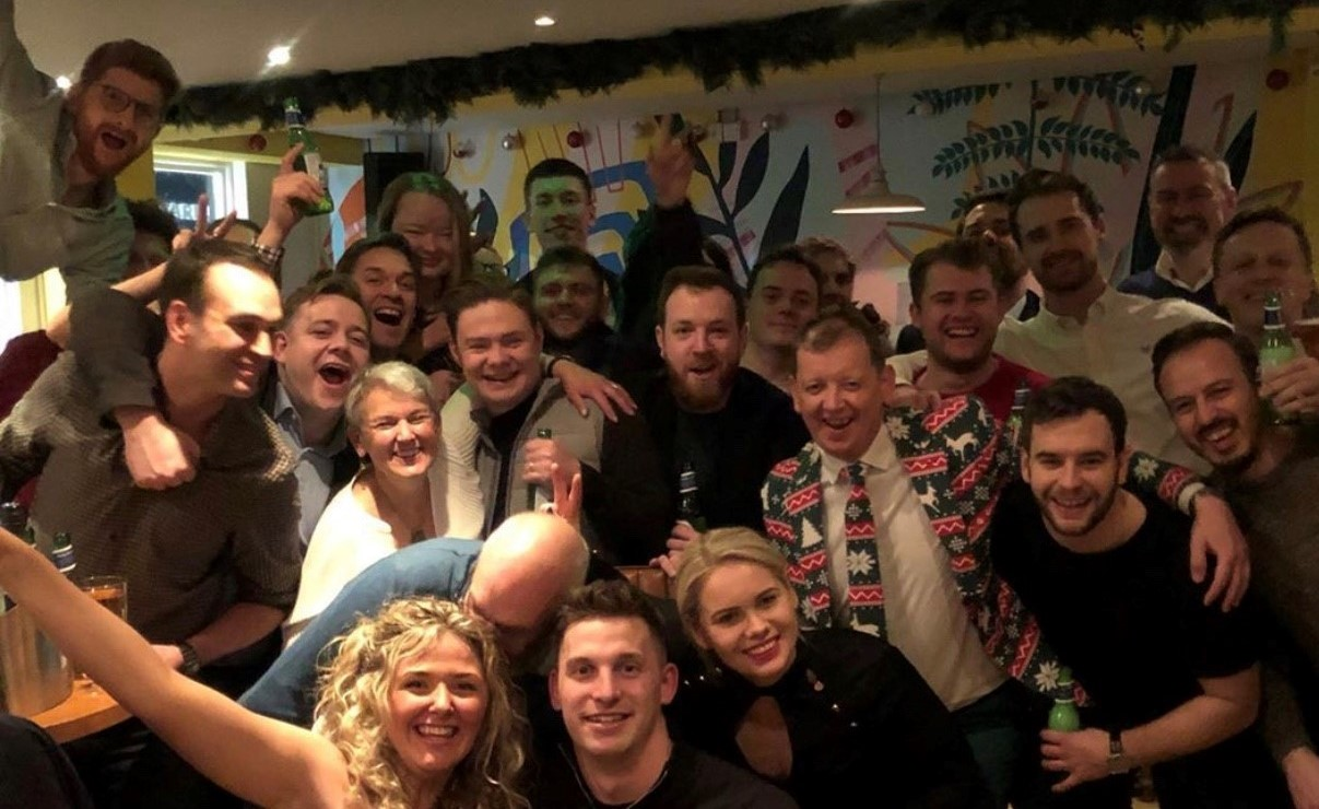 X Christmas Party Group Photo